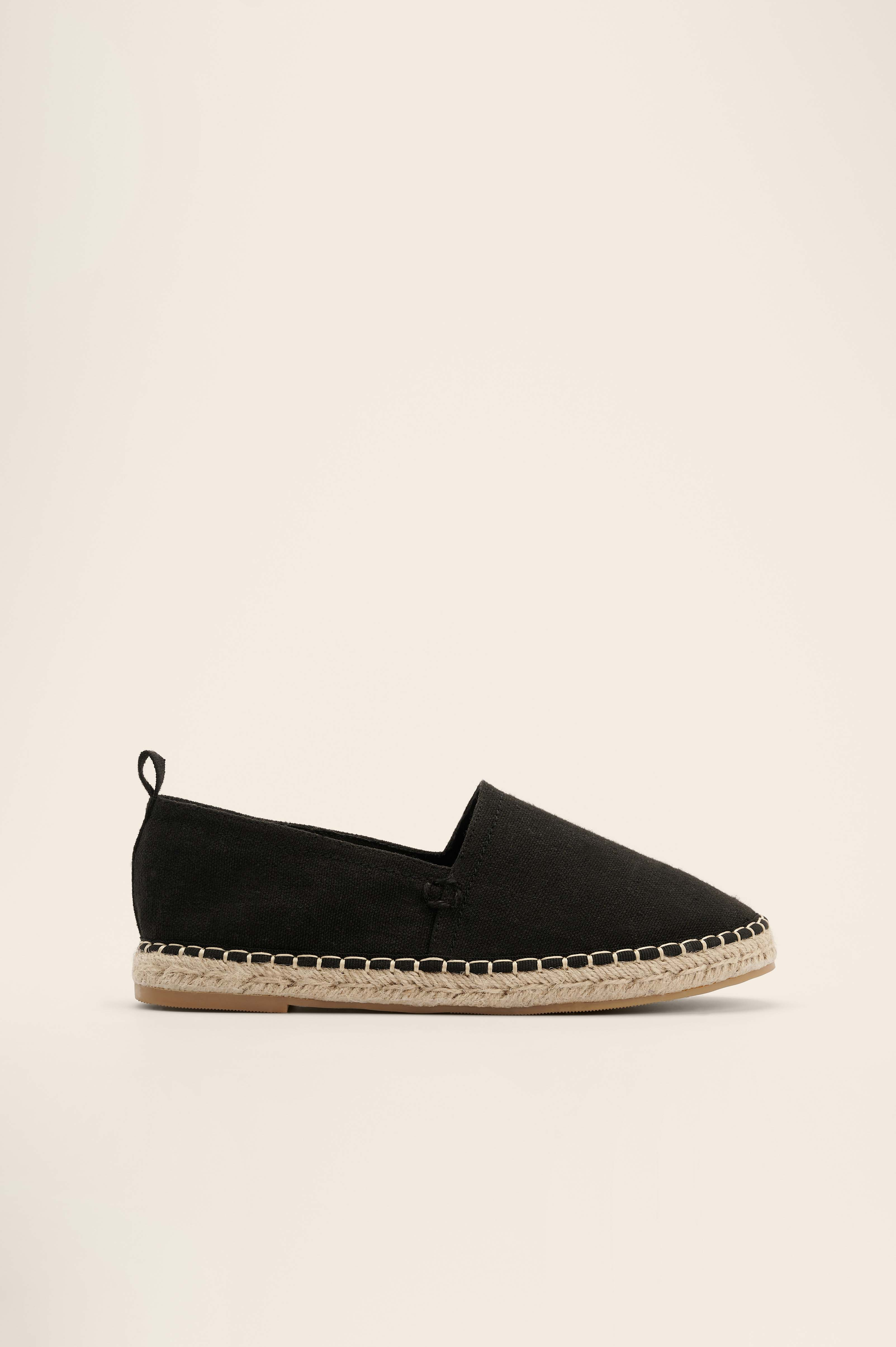 Black Basic Espadrilles
