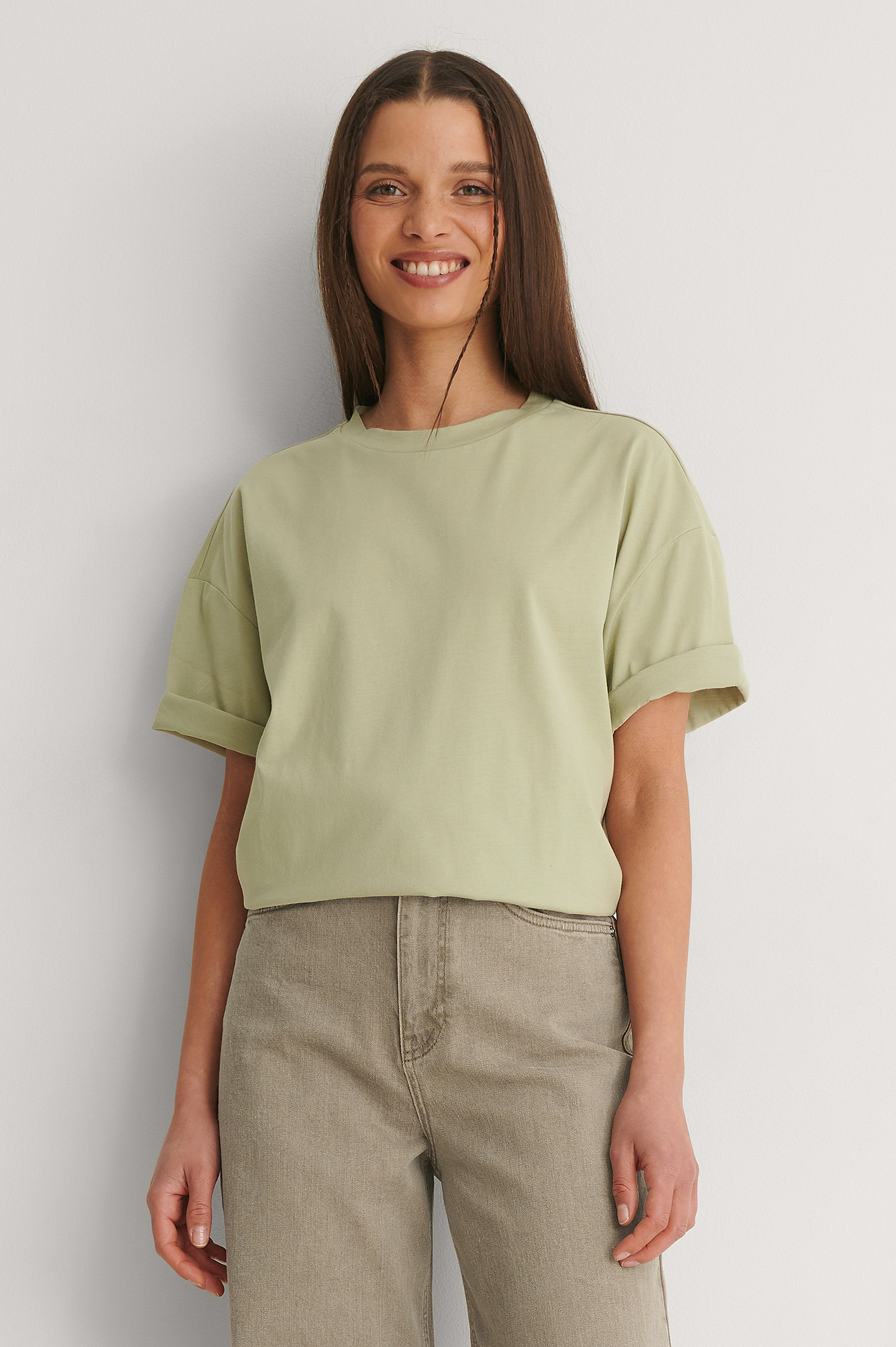 Light Green Boxy Oversized Tee
