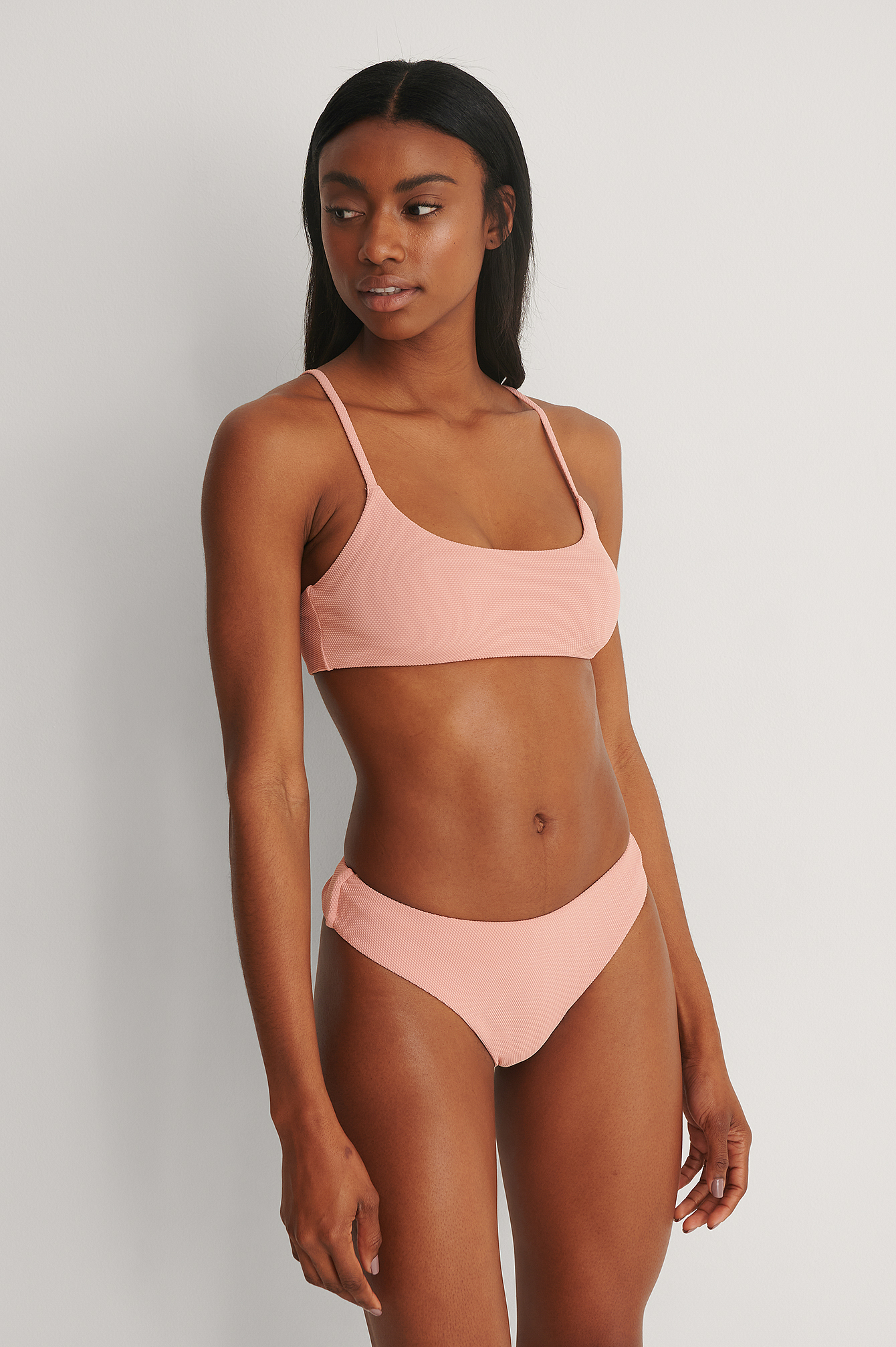 Pink High Cut Bikini Panty