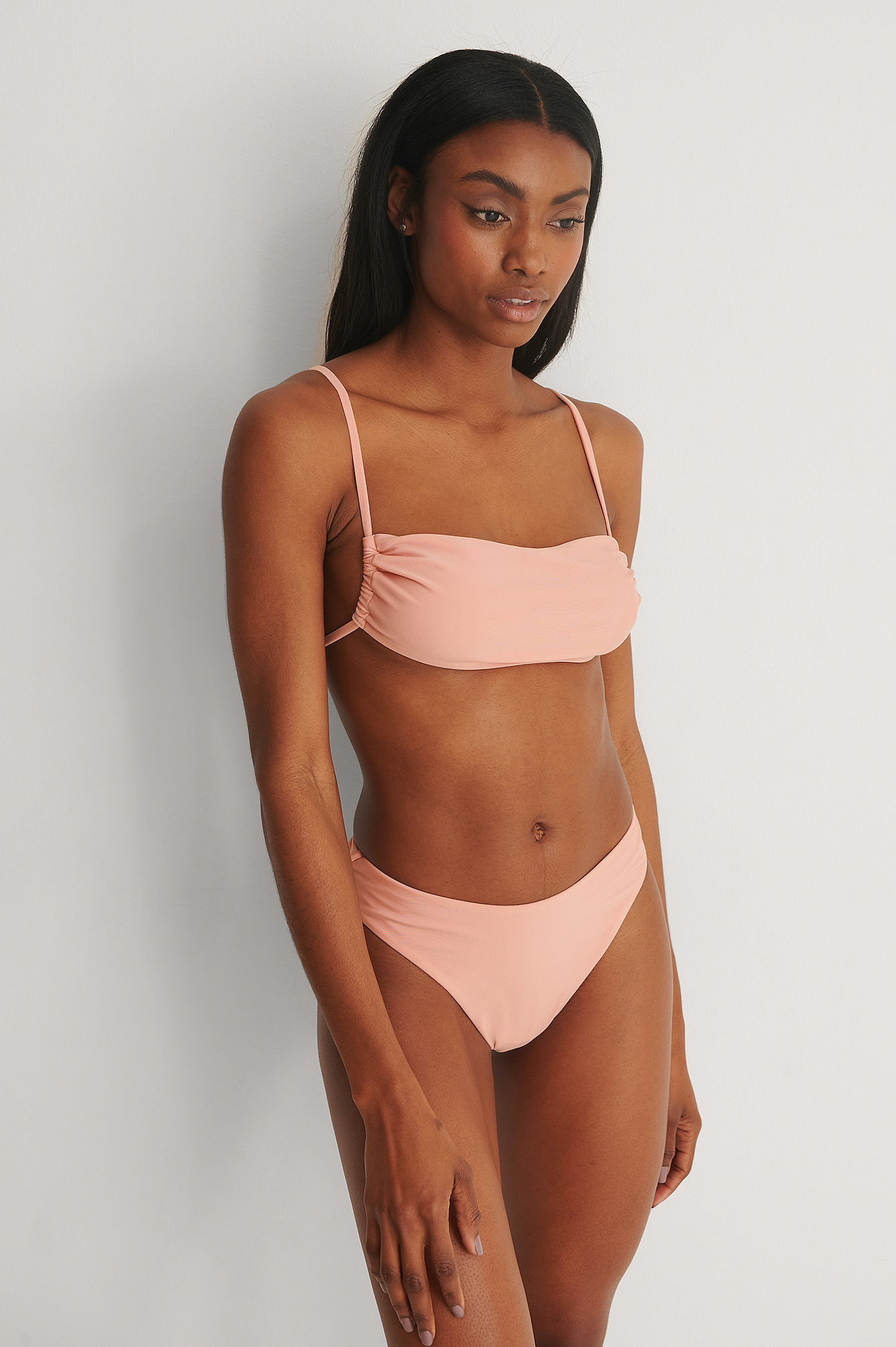 Pink Recycled High Waist Bikini Bottom