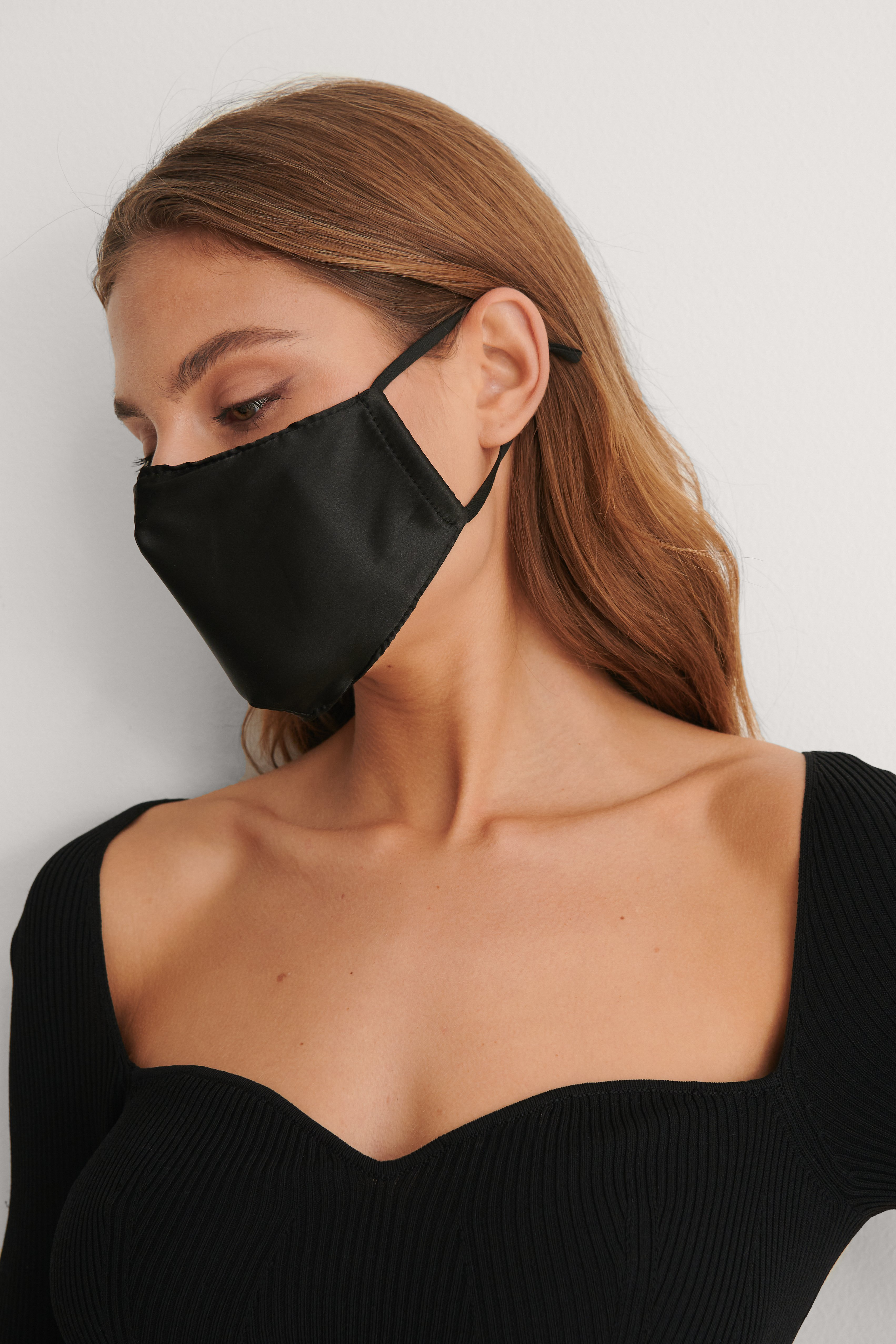 Black 3-Pack Satin Face Masks