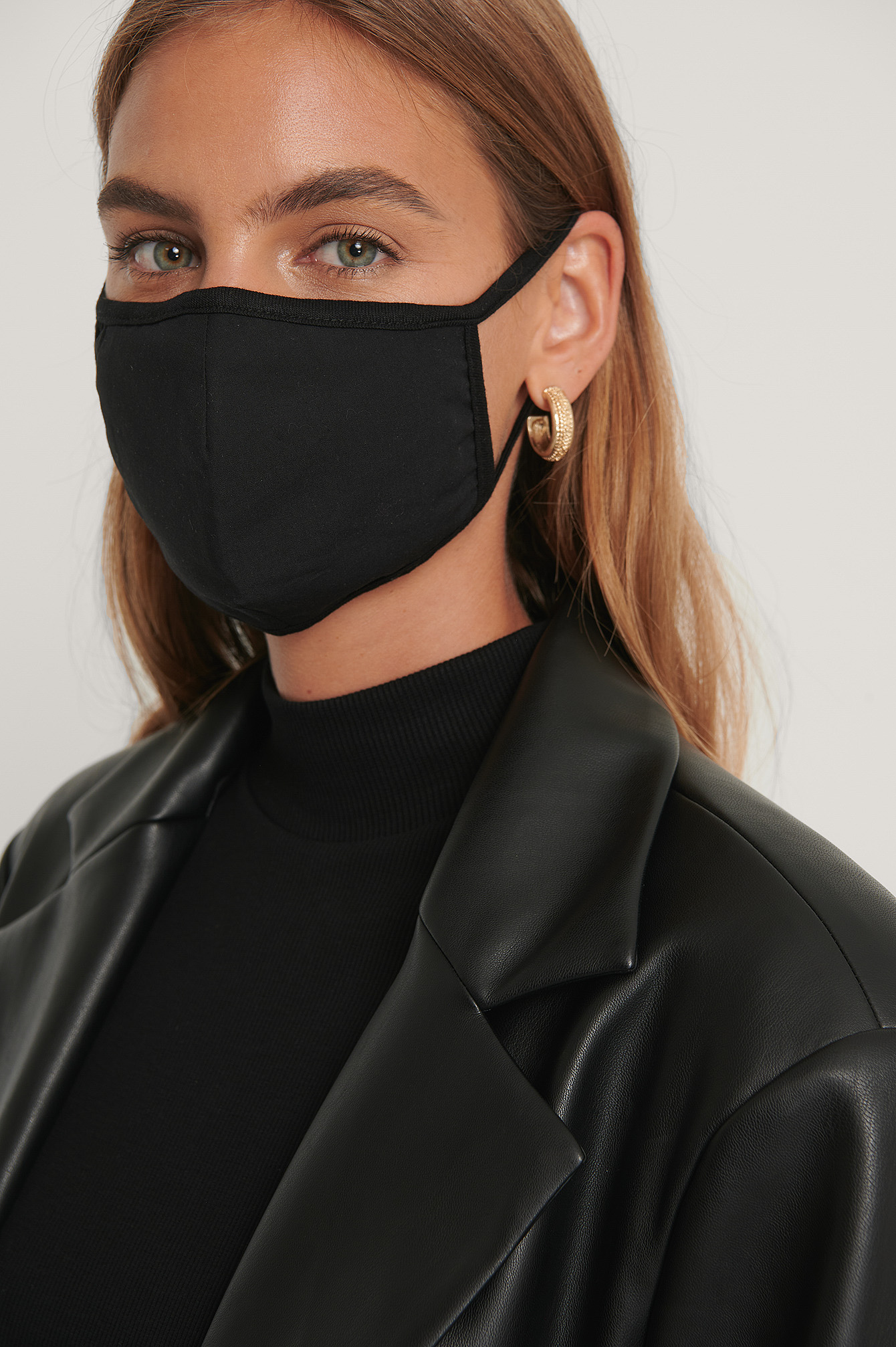 Black 3-Pack Basic Face Masks