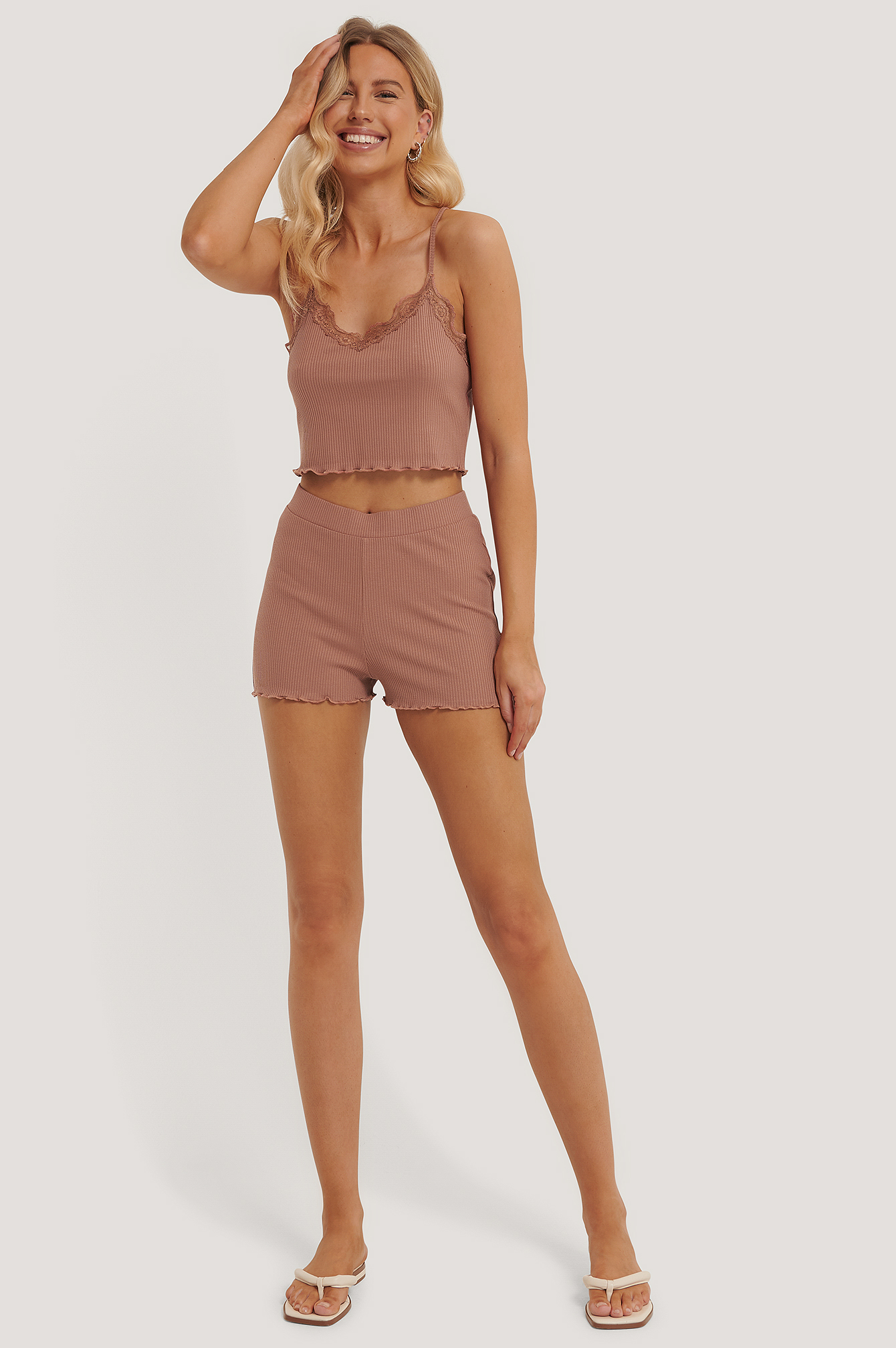 Dusty Dark Pink Babylock Lounge Shorts