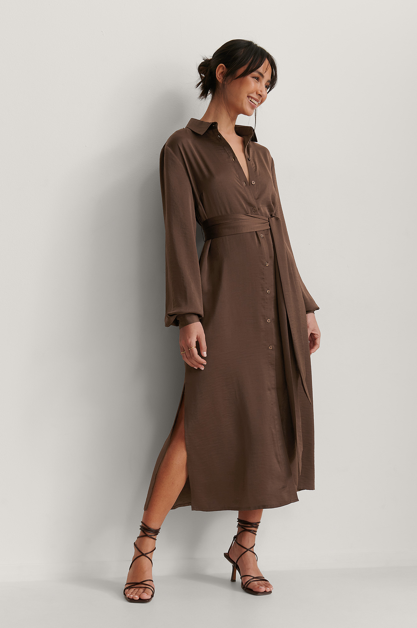 Brown Flowy Kaftan