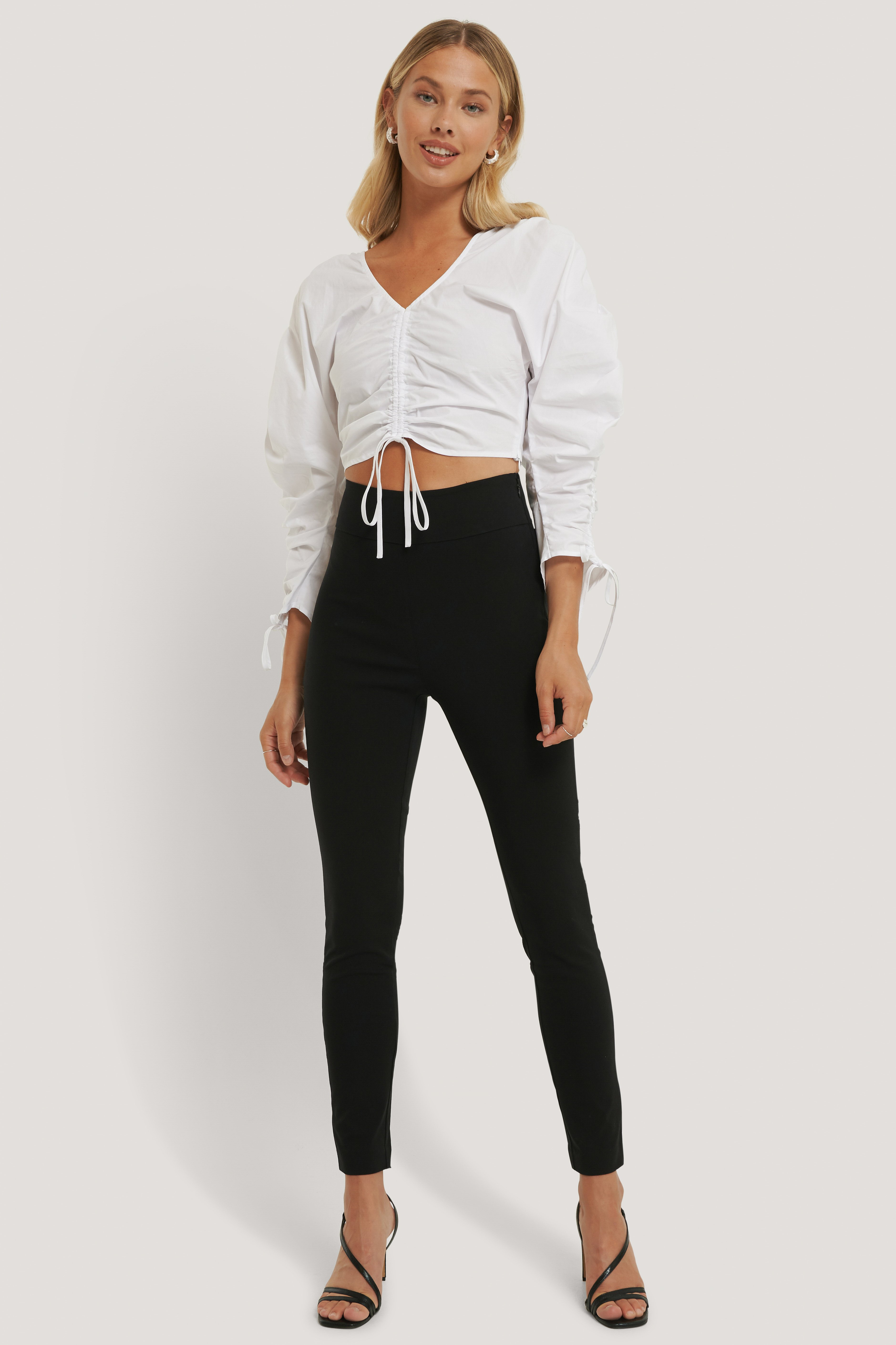 Black Slim-fit Super Stretch Pants