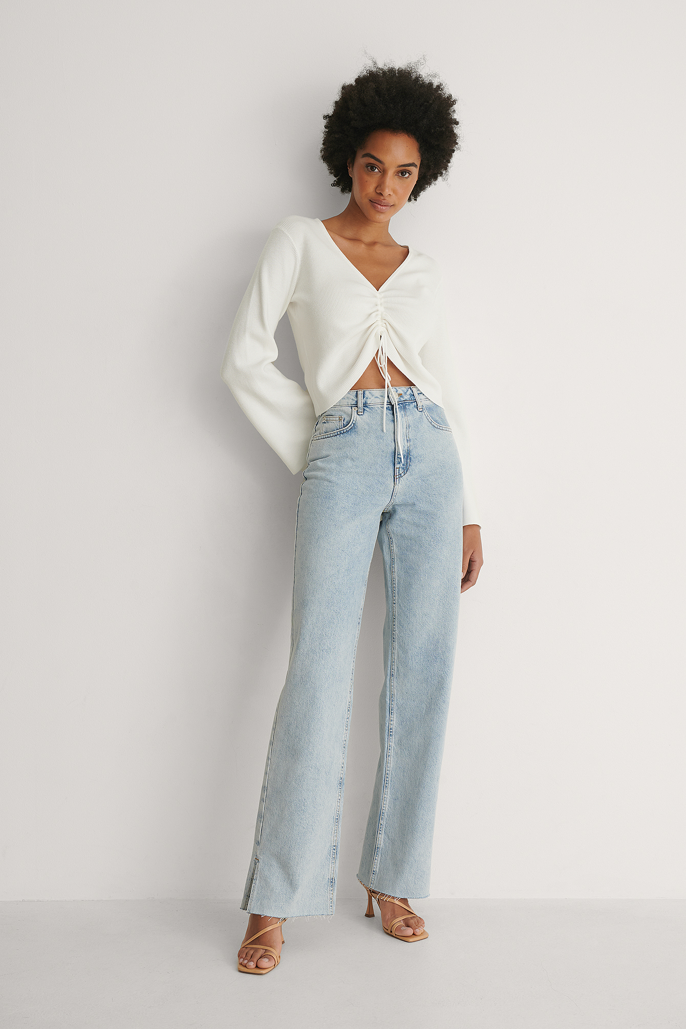 Blue Straight Fit Denim Tall