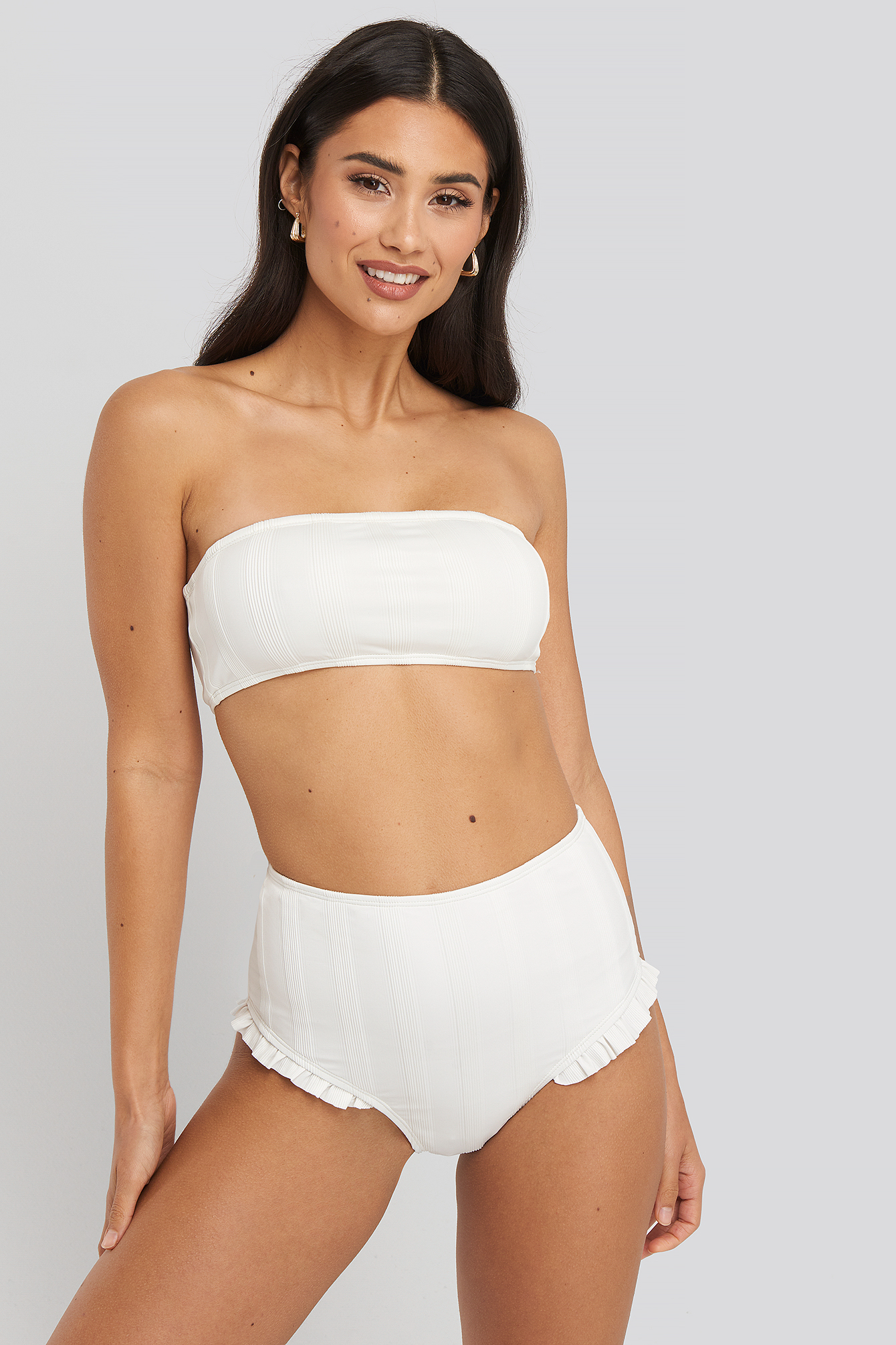White Wide Ribbed Maxi Higwaist Panty