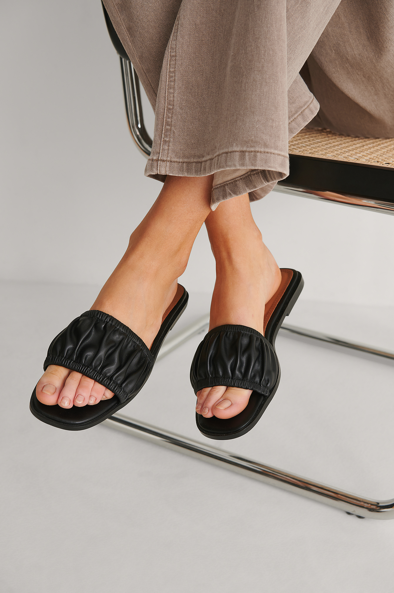 Black Slouchy Slippers