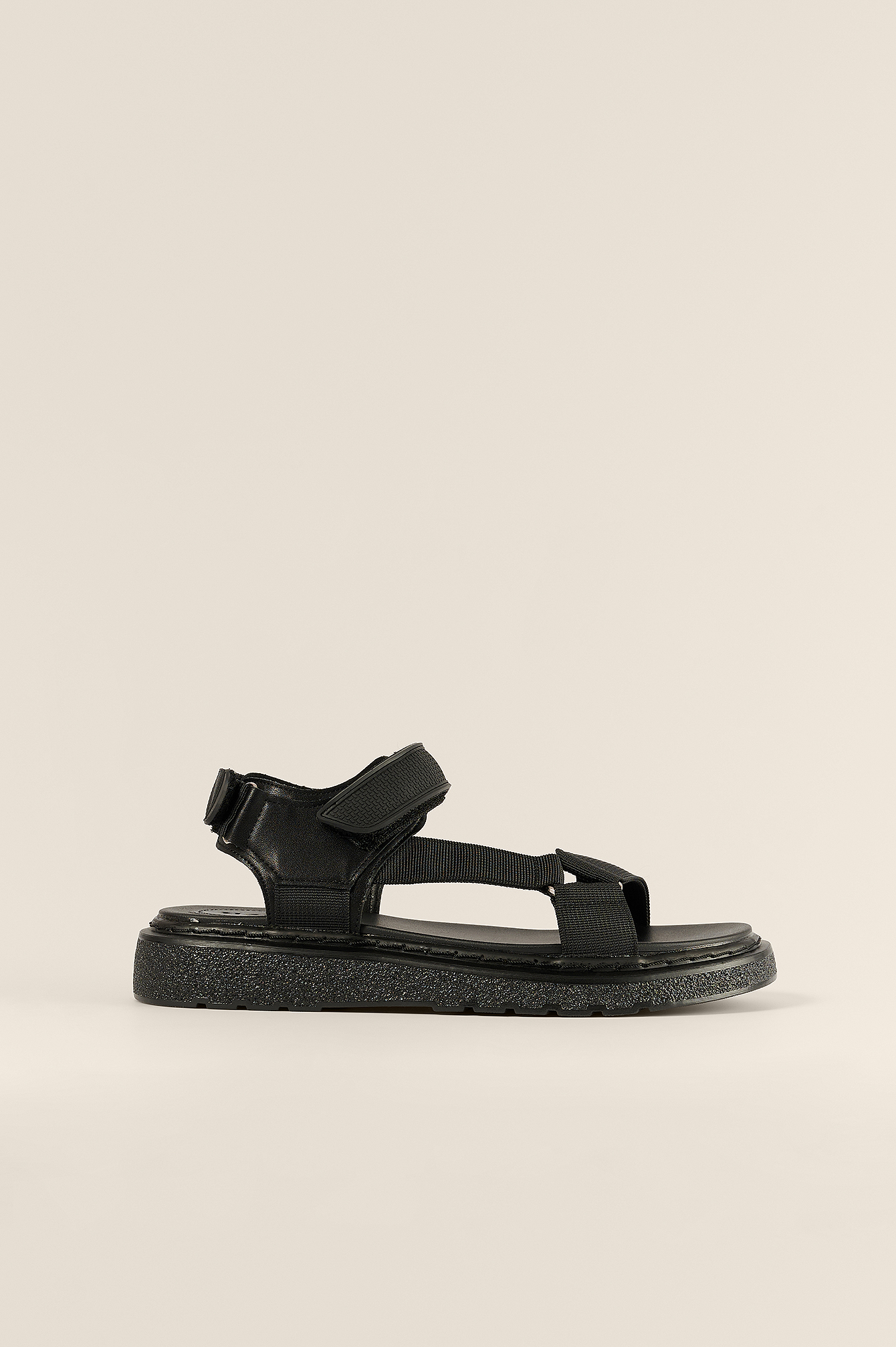 Black Velcro Trekking Sandals