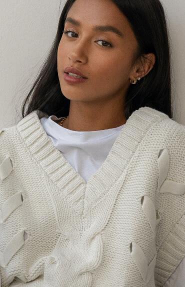 Girl in white reborn sweater