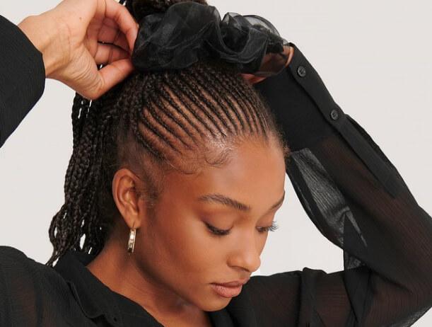 Woman doing her hair