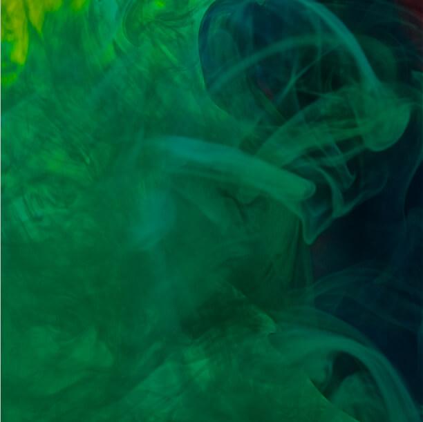 Green turbulent smoke